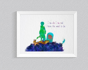 The Little Prince Quotes print Disney Nursery Art Print Wall Decor Kids Room Baby Room Baby Shower Gift Home Decor Wall Art Not Framed {51}