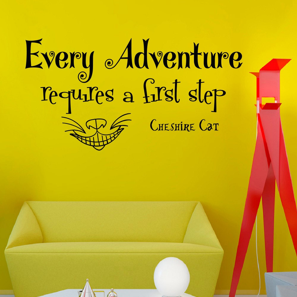 Wall Decals Alice in Wonderland Quote Decal Every adventure