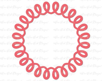 Swirly Frame Circle Monogram Frame SVG DXF PNG pdf jpg for Cameo Cricut Explore, and other electronic cutting machines
