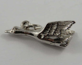 Canada Goose Sterling Silver Vintage Charm For Bracelet