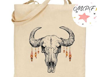 Tote bag Buffalo head