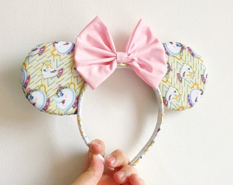 Beauty and the Beast, Chip and Mrs Potts, Mickey and Minnie Mouse, Classic Disney Character Ears Headband