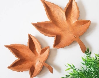 Wooden Maple Leaves