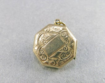 Vintage 9ct Gold Locket Picture Locket Pendant Wedding Jewelry Antiques Collectible Gold Jewellery