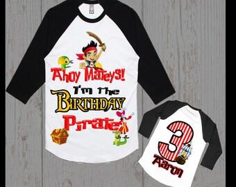 Jake and the Neverland Pirates Birthday Shirt - Jake Birthday Shirt