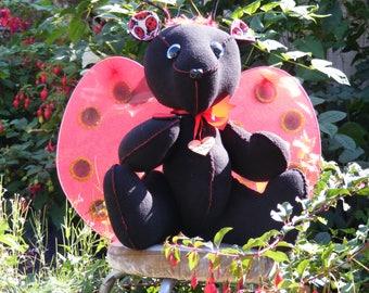 i wish i was a ladybug teddy bear