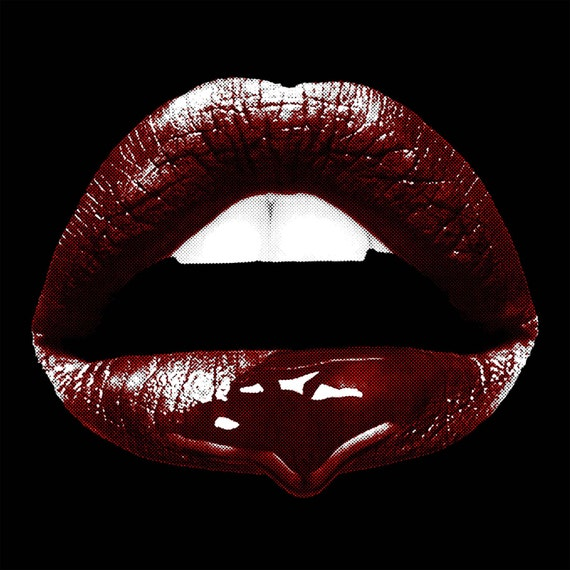 Lips Pop Art Poster Photo Sexy Mouth Original Pop Art Vampire-7050