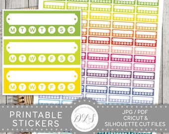Habit Tracker, Habit Tracking Sticker, Habit Sticker, Habit Box Planner Stickers, Functional Planner Stickers, Printable Habit Sticker FS103