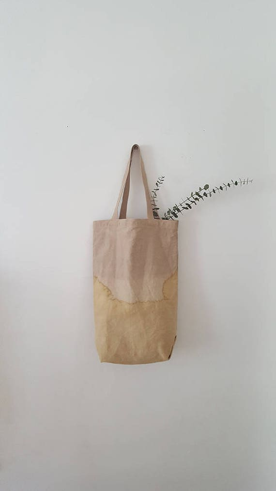 Botanically Dyed Canvas Tote / Natural Dyed / Cotton Canvas Tote / Tote Bag /  Botanical Color / Organic Color / Hand dyed / Slow Fashion