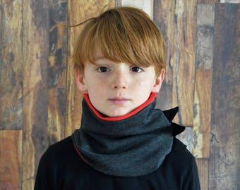 Dinosaur cowl,neckwarmer ,scarf,neckwarmers,scarves,organic clothing,organic accessories,gift for him,dinosaur neckwarmer