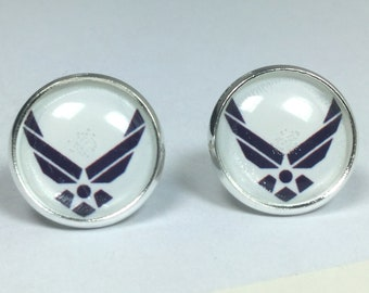Air Force Earrings Air Force Jewelry Military Jewelry Earrings