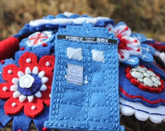 Dr Who Embroidered Felt Bouquet