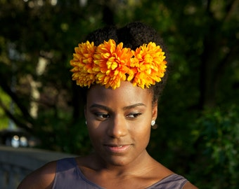 Citrus Yellow Flower Hair Clip Accessory
