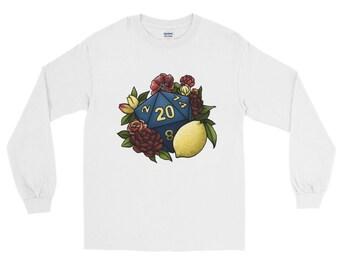 Marsala D20 Long Sleeve T-Shirt - D&D Tabletop Gaming