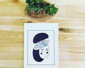 Print ~ BLUE BRAIN