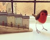 Robin Needle Felted Bird Ornament