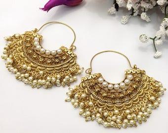 Handmade Party Wear Bali Earrings Indian jewelry Pakistani Bollywood Bali Earrings indian jewellery