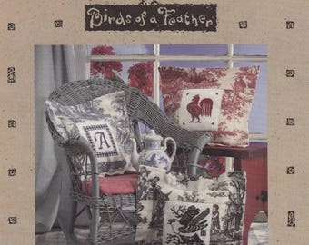 Toile Pillows ~ Birds of a Feather ~ Counted Cross Stitch Chart Pattern Chart