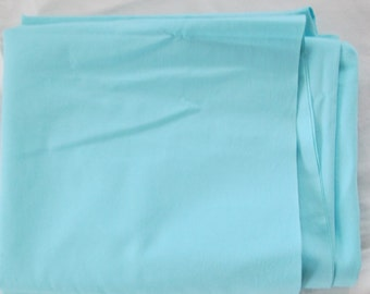 Vintage Cotton Quilting Fabric 36 x 62 Full Piece Robins egg Blue