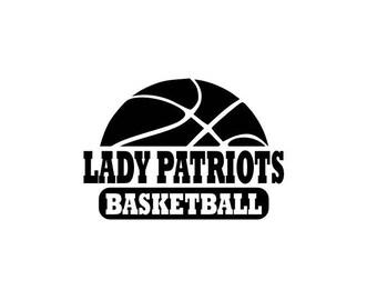 Lady Patriots svg, Patriots Basketball svg, Basketball svg, SVG, DXF, EPS, Silhouette Studio, Cut File, Digital Cut Files, Cricut Design