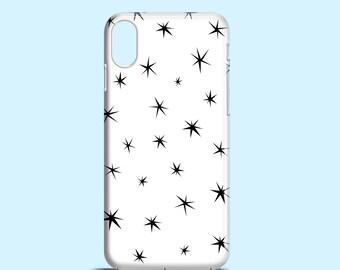 Small Black Stars phone case / iPhone X / iPhone 8 / stars iPhone 7 case / iPhone 7 Plus / iPhone 6/6S / iPhone 5/5S / Samsung Galaxy S6