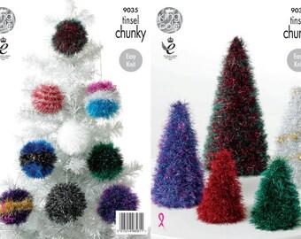 Tinsel Christmas Tree Knitting Pattern