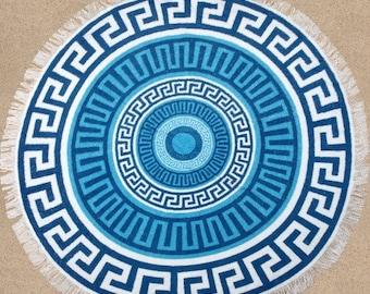 Aztec towel, round beach towel tassels, roundie, mandala beach towel, beach style, circle towel, round towel