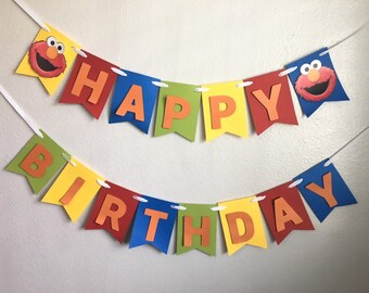 Elmo Banner - Elmo Birthday Party - Elmo Decorations- Elmo Party - Elmo - Elmo Party Decor - Elmo Birthday Banner