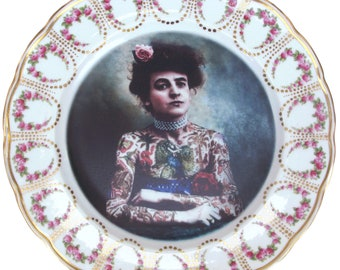 The Tattooed Lady Portrait Plate 10""