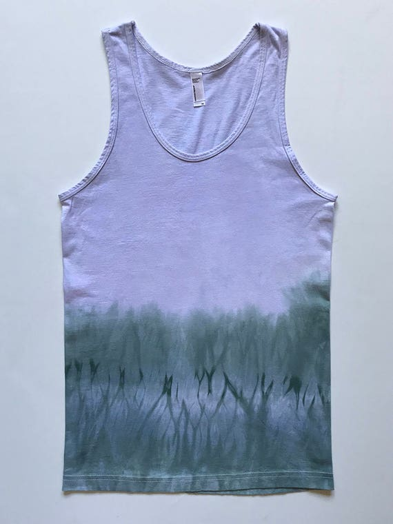XS Lavender and Gray Arashi Tank Top