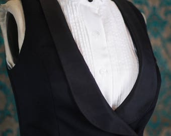 Victorian Skirt Suit---A Vest, Shirt and Skirt Tuxedo