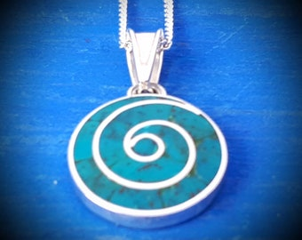 turquoise pachamama small pendant mothers symbol mothers day jewelry peruvian jewelry silver spiritual necklace from peru inca spiral love