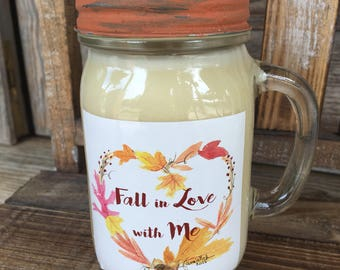 Pumpkin Souffle Candle  / Soy Candle / Fall Candle / Fall Scent / Autumn Scent / Pumpkin Everything / Drinking Glass / PSL