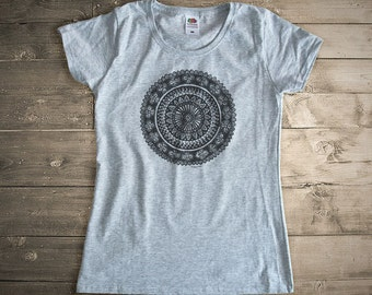 Mandala T-shirt-mandala tee-mandala tank top-women's yoga tees-men's yoga tees-yoga-gym top-zen t-shirt-holiday gift-by NATURA PICTA-NPTS017
