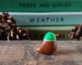 By the Shed Mallard Duck Bird Pin Badge - Green Brown - Birds, Bird Watching, Wildlife, Pond, Gift, Game Shoot Shooting - Brooch, Tie Pin