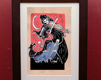 Danse Macabre Archival Art Print