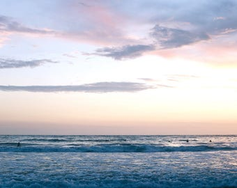 Beach Print Coastal Photography California Photo Sunset Wall Art Ocean Decor Nautical Decor Purple Sky Photo Surf Art San Diego Photography
