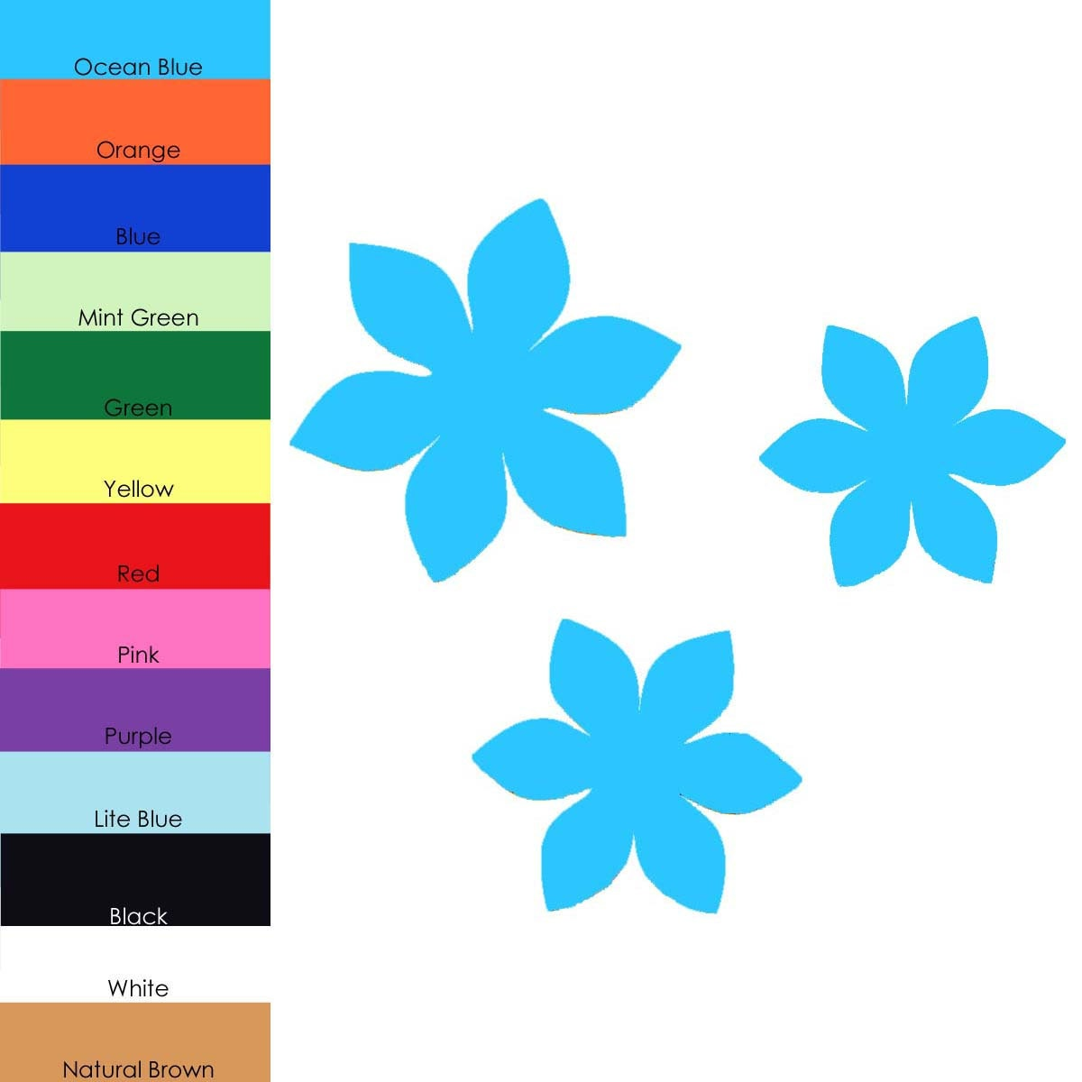 25 Pack Paper Flowers Flower Shapes Paper Flower Cut Out
