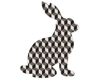 Sitting Bunny Rabbit applique template | PDF applique pattern | applique template