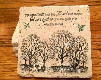 Tree Coasters. (Set of 4)