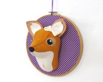 CLEARANCEFaux Fox Taxidermy Head