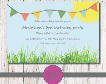 Natures Finest Kids Invitation - YOU PRINT custom Natures Finest party invite