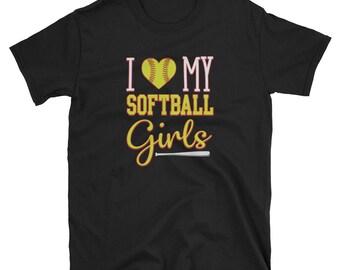 Softball Mom T Shirt I Love My Softball Girls Softball Mom Gift