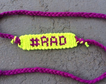Customizable Hashtag Friendship Bracelet