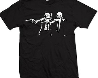 Star Wars Pulp Fiction T-Shirt Darth Vader Boba Fett Shirt ( S - 5XL )