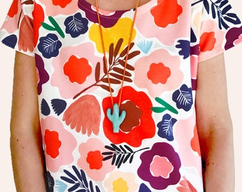 Olive's Garden 100% organic cotton jersey  short sleeve top