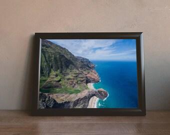 Hidden Beach Coves on Na Pali Coast, Kauai, Hawai'i Printable Wall Art Digital Download