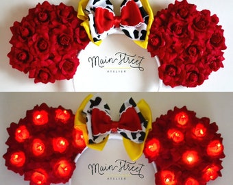Light-Up Cowgirl Floral Mouse Ears