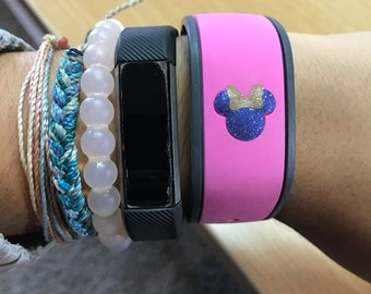 GLITTER Mouse Head with Bow Decal for the Magic Band, decal only - Magic Band Decal - Magic Band Sticker - Girl Mouse with Bow Decal - Bow