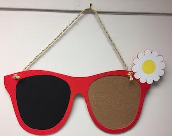 Sunglass Frame Chalkboard, Cork Board or Picture Frame